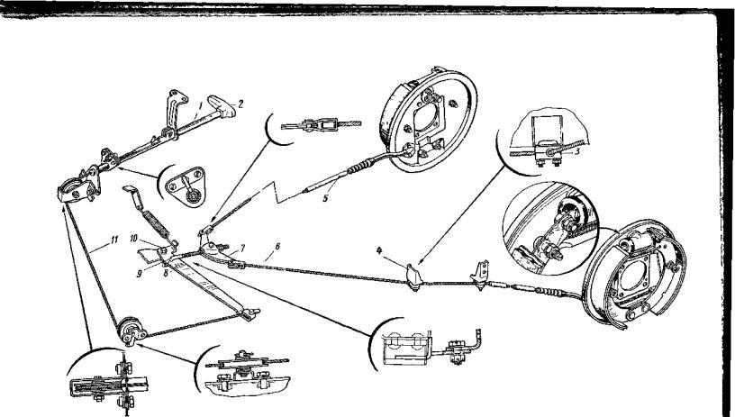 Схема стояночного тормоза газель